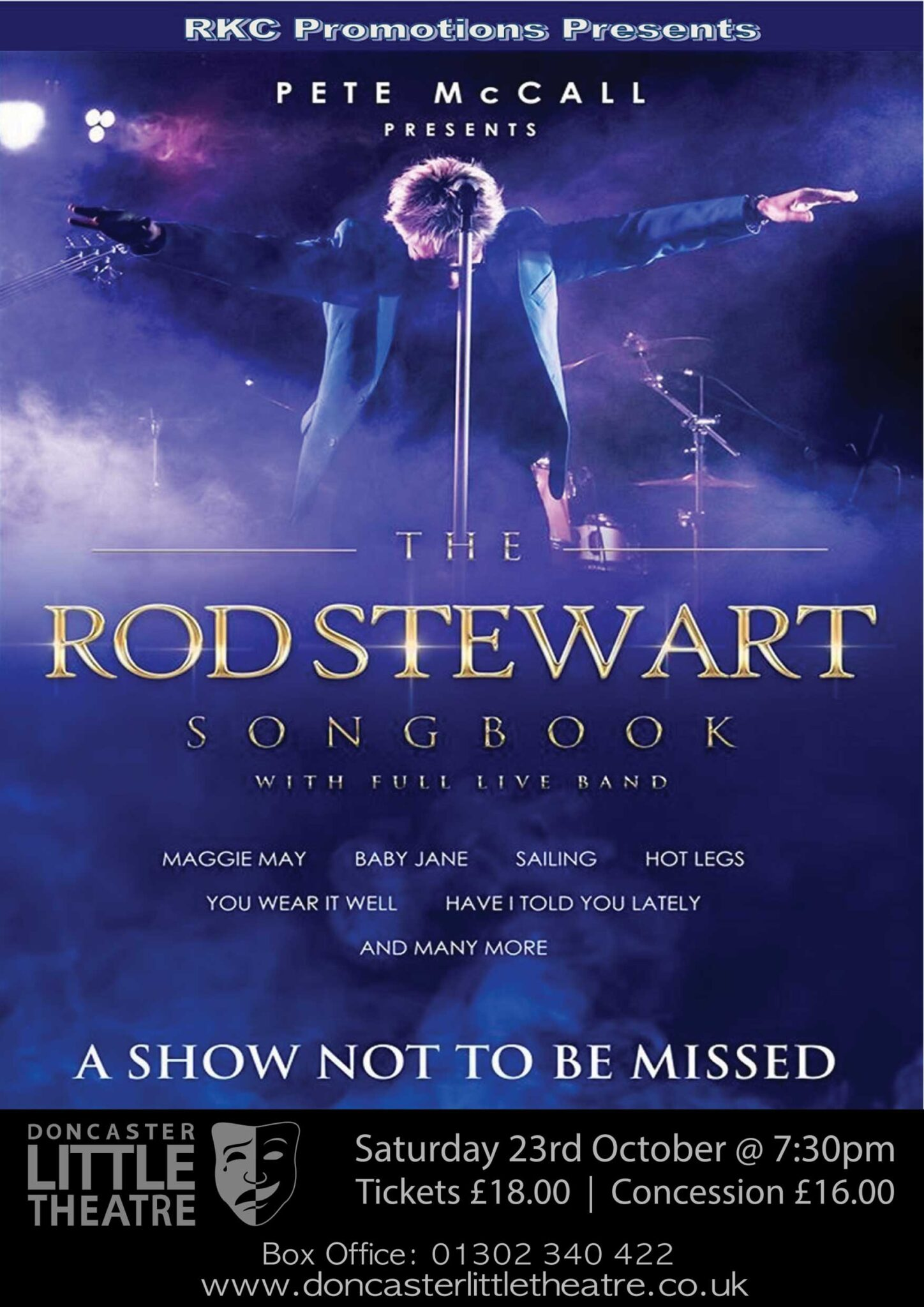 The Rod Stewart Songbook starring Pete McCall